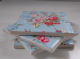 4 Ceramic Coasters in Cath Kidston Trailing Floral in Blue